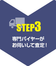【step3】専門バイヤーが お伺いして査定!
