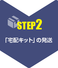 【step2】「宅配キット」の発送